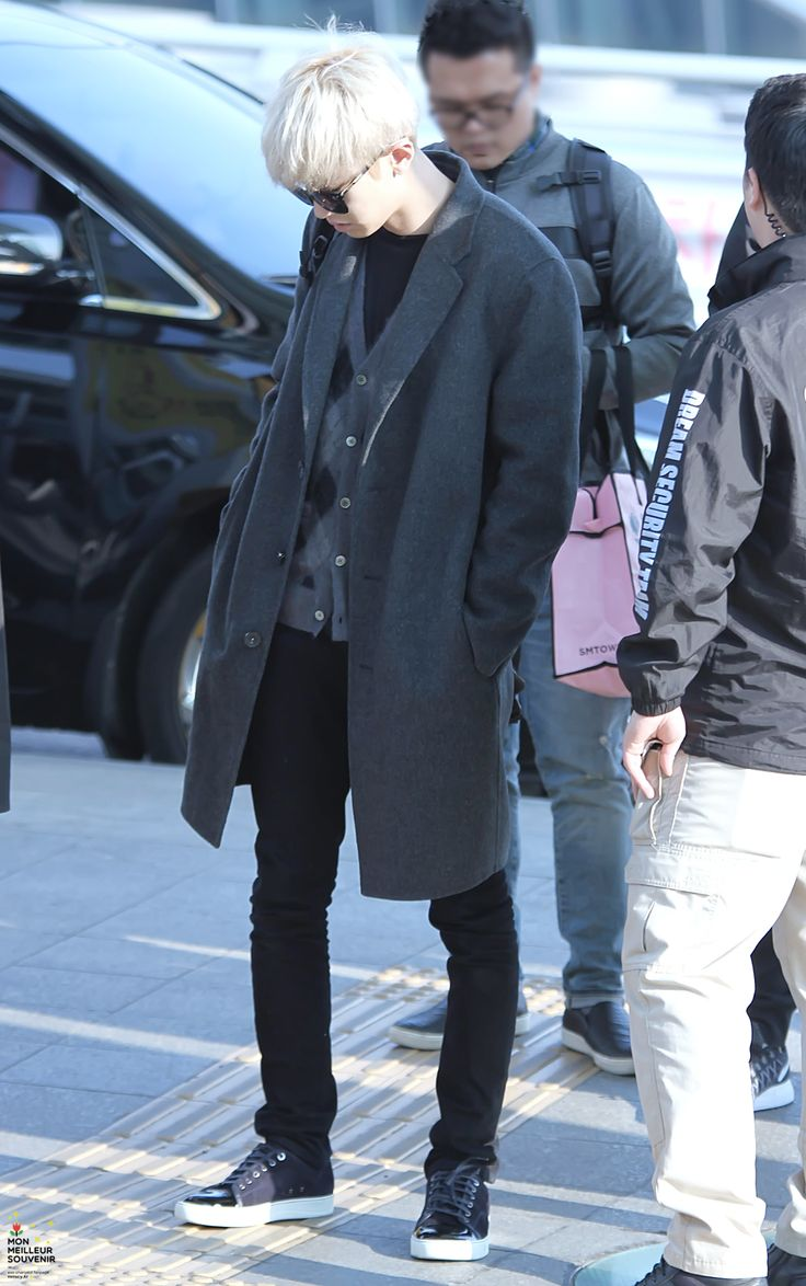 Korean Airport Fashion — dailyexo: Chanyeol - 160226 Incheon Airport,...