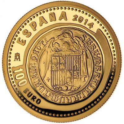 Moneda 2014 Joyas Numismaticas. Dos Excelentes. 100 euros oro, Tienda Numismatica y Filatelia Lopez, compra venta de monedas oro y plata, sellos españa, accesorios Leuchtturm