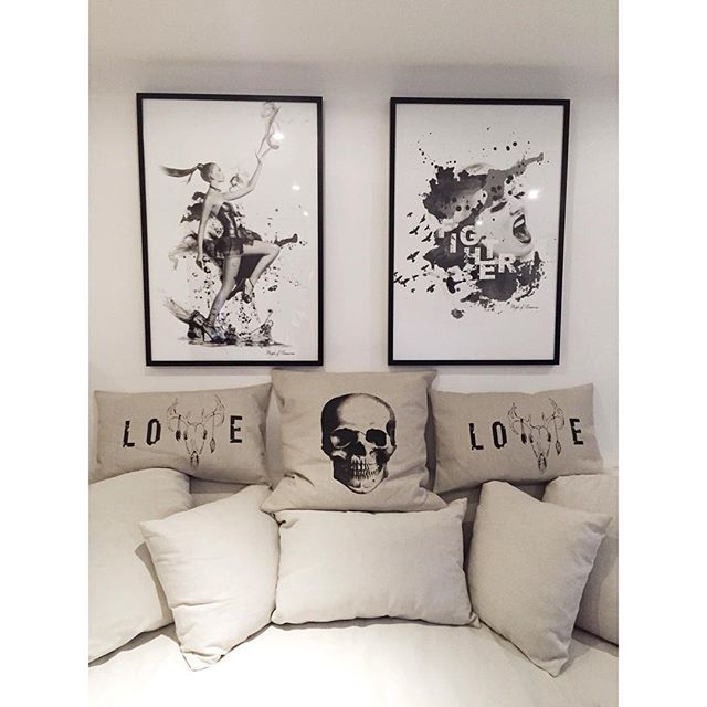 Posters & pillows  #design #poster #interior #pillow #graphicdesign #creative #home #decor #wall #art