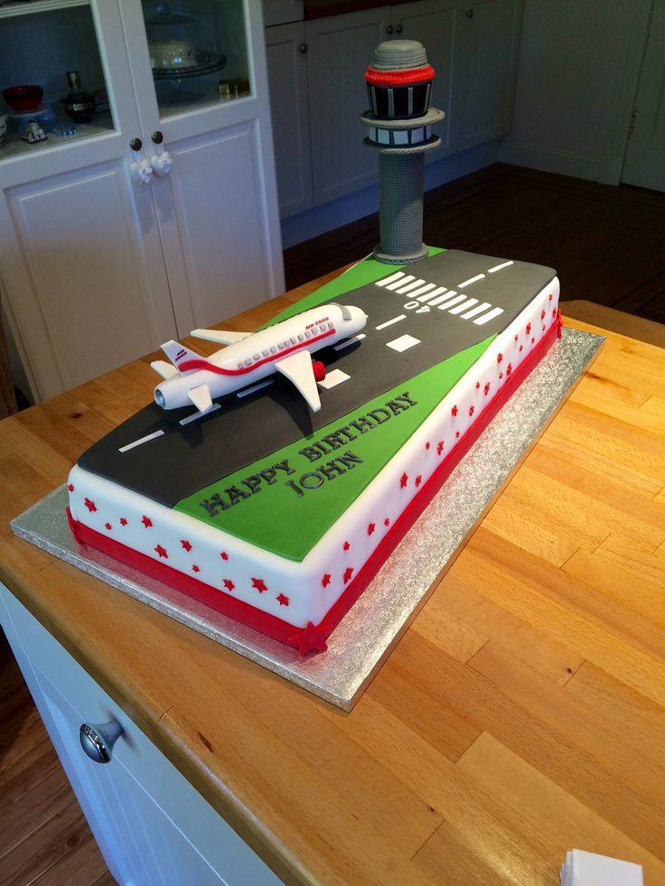 Airport runway cake