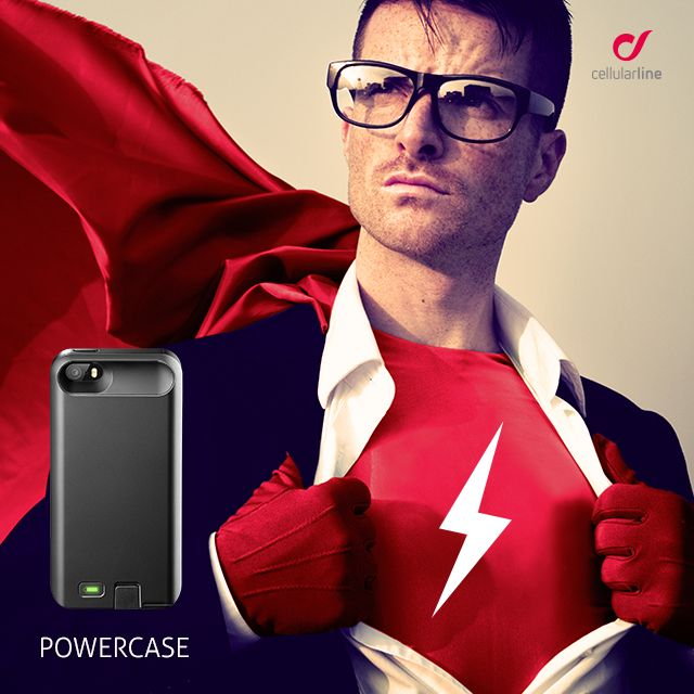 POWERCASE è la custodia che protegge il tuo #Samsung #GalaxyS5 e fornisce carica aggiuntiva grazie all'estensione di batteria interna! #smartphone #superhero #energia #cellularline