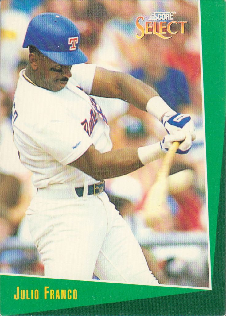 1993 Score Select Julio Franco, Texas Rangers #Texas #Rangers #TexasRangers #MLB #Baseball