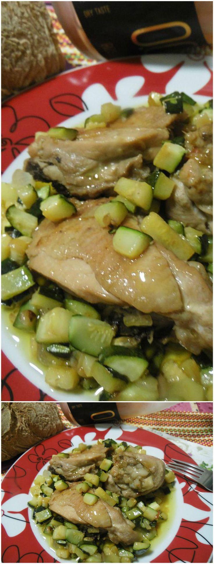 Pollo alle zucchine, appetitoso! #zucchine #pollo #ricettegustose