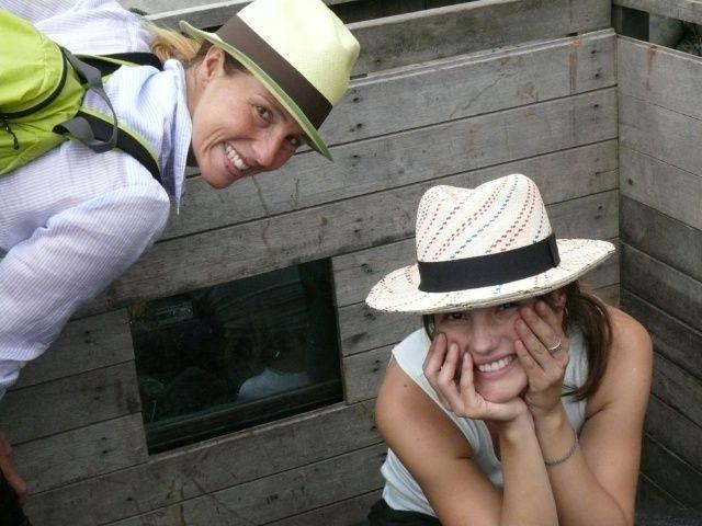 Flor Gomez Gerbi and Julieta Gomez , Greenpacha sisters. Visiting Ecuador, Sig Sig where our hats are produced by the ladies. #greenpacha #hats #handmade #ethic #fashion #Ecuador #sigsig #latinamerica