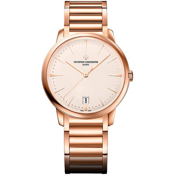 Vacheron Constantin Patrimony Opaline Dial Ladies 18 Carat Rose Gold... (1,970,490 PHP) ❤ liked on Polyvore featuring jewelry, watches, skeleton wristwatch, vacheron constantin watches, rose gold watches, transparent watches and analog wrist watch