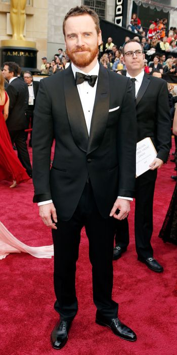 Oscars 2014 Red Carpet Arrivals - Michael Fassbender from #InStyle I LOVE HIS GINGER BEARD!!!!!!
