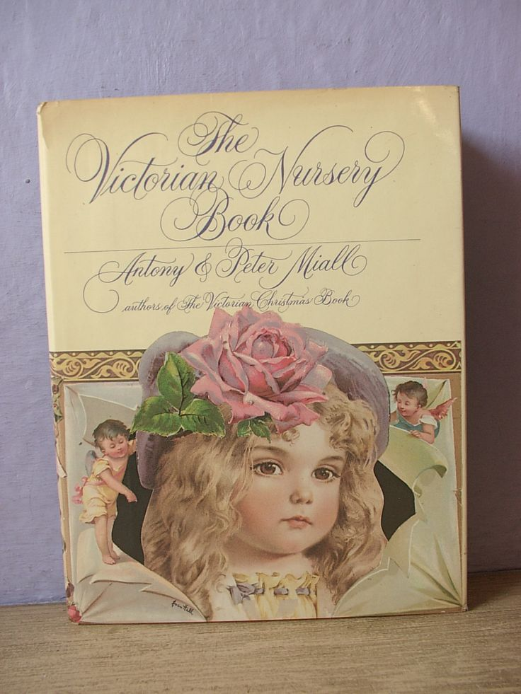 Vintage The Victorian Nursery book by Atony and Peter Miall, 1990, antique illustrations, Gift for New mom, girls nursery, history book by ShoponSherman on Etsy