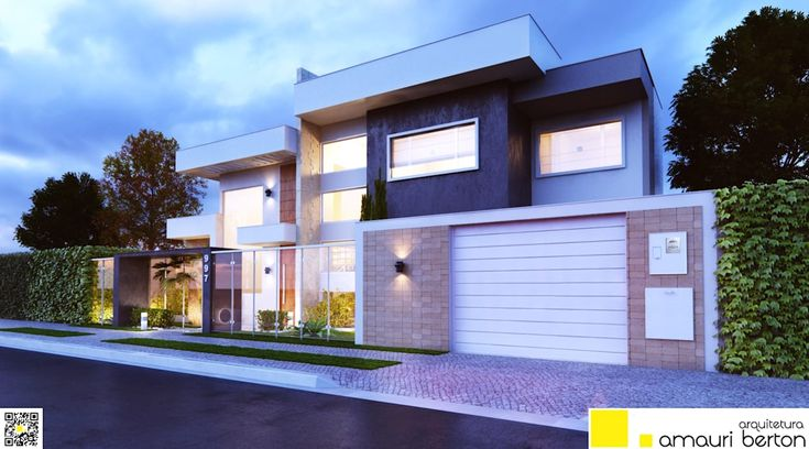RESIDÊNCIA ASSOBRADADA PARA UM CASAL: Casas modernas por Amauri Berton Arquitetura
