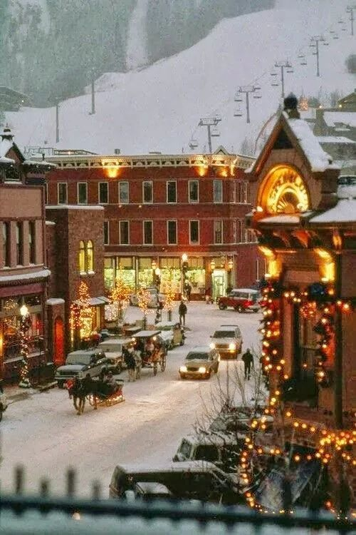 Aspen,Colorado in ski season.