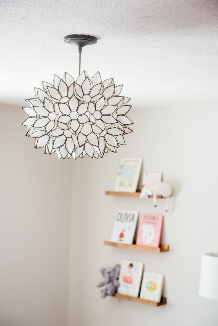 How perfect is this light fixture for a baby girl nursery?