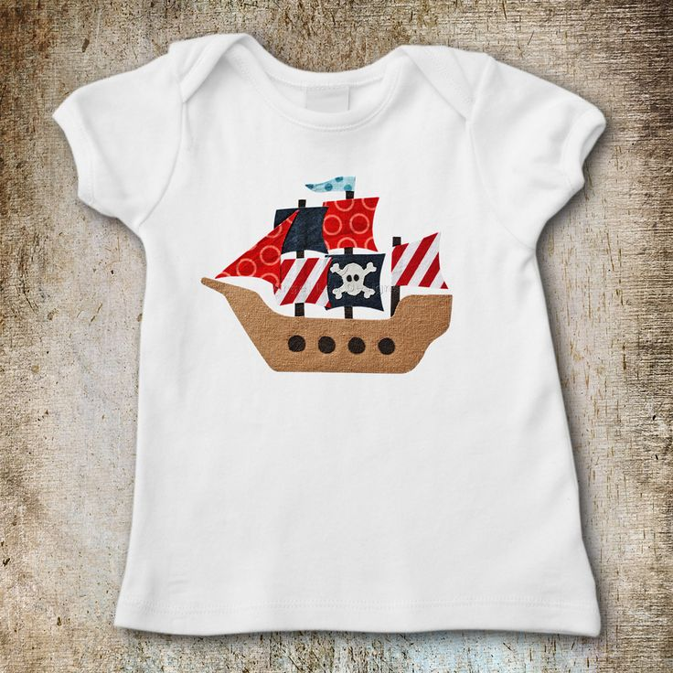 Pirate Ship Applique Template