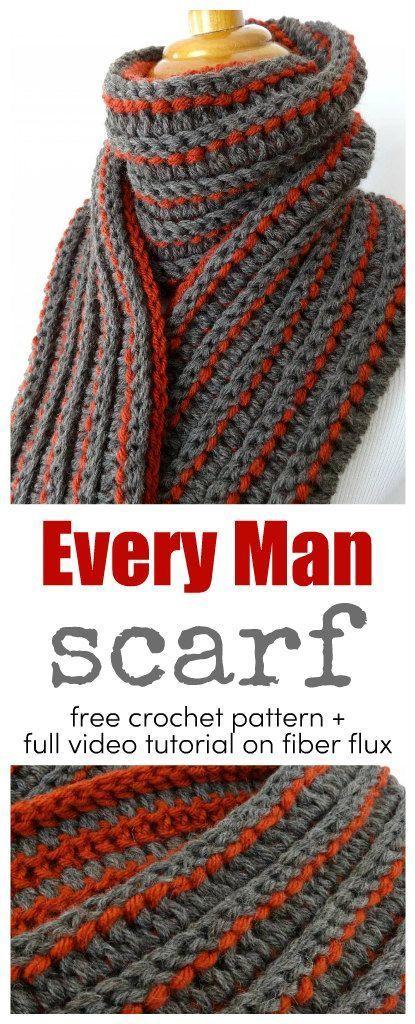 Padrão de crochê grátis ... O lenço de todos os homens