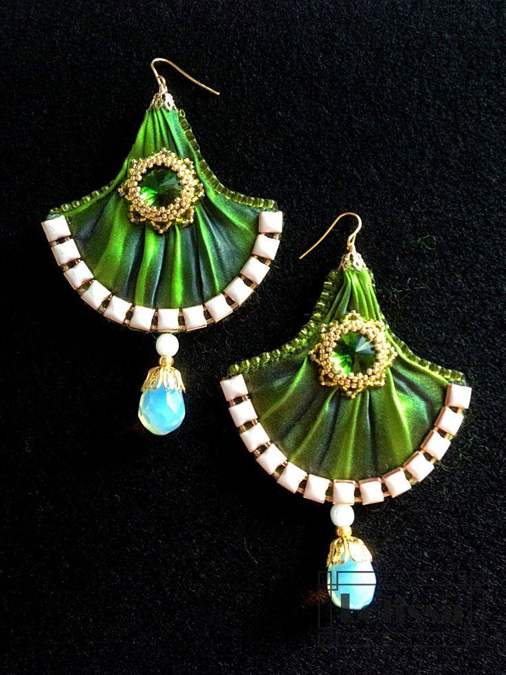Shibori earrings