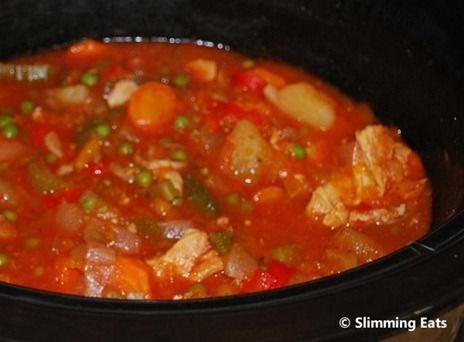 Slow Cooker Chicken, Butternut Squash and Tomato Casserole
