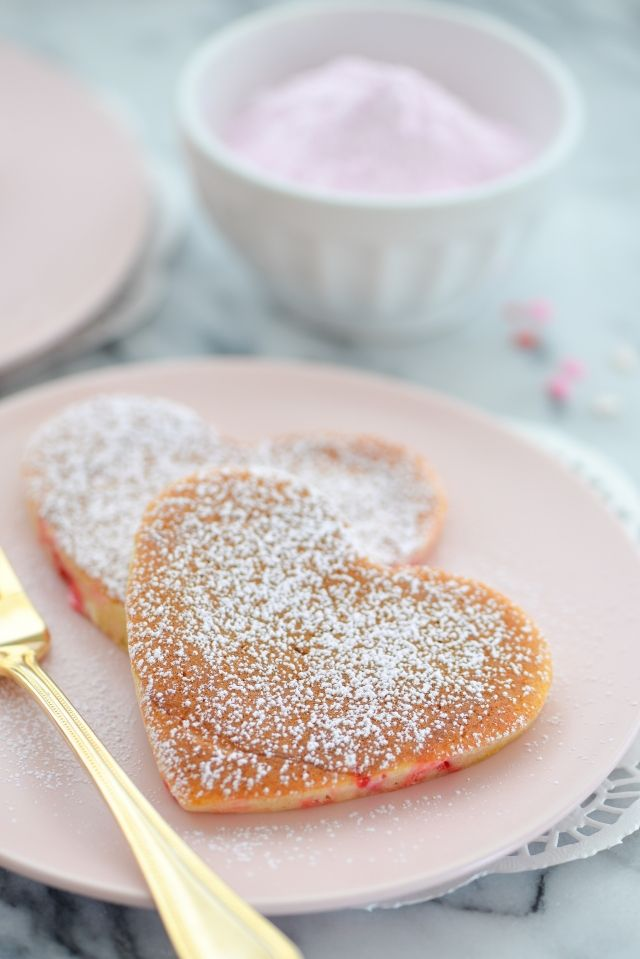 Confetti Buttermilk Pancakes with Vanilla Pink Sugar – Welcome