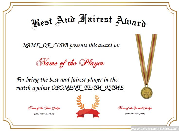 12 best Sports Certificate Templates images on Pinterest - certificate of achievement word template