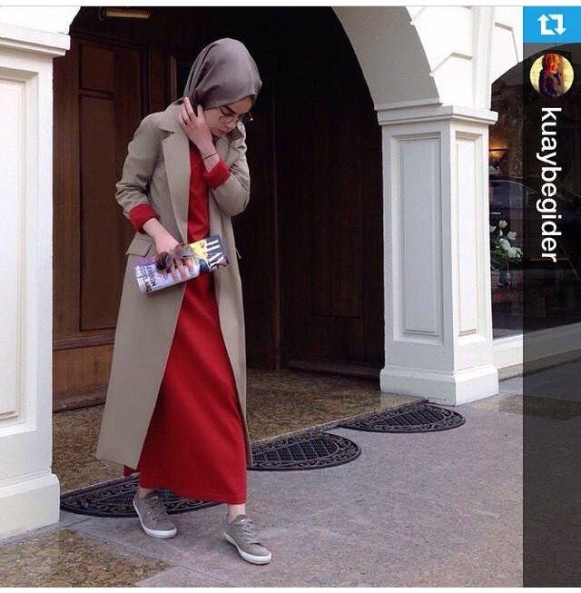 Hijab Fashion with a long Maxi skiirt