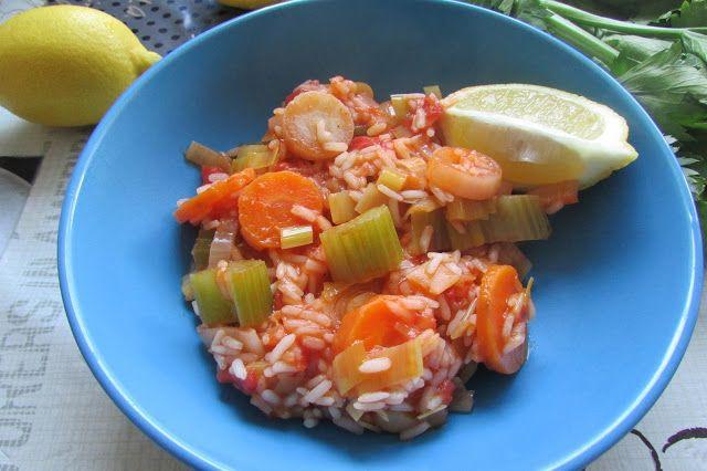 Greckie smaki: Potrawka z pora z ryżem, czyli prasorizo