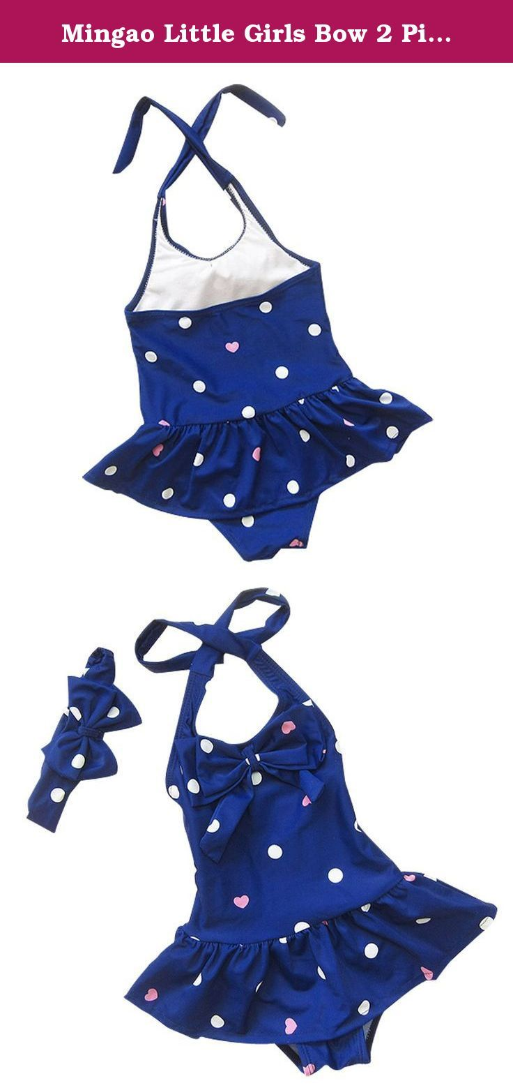 Mingao Little Girls Bow 2 Piece Beach Bikini Swimwear Swimsuit 4-5 Years. Size decription 1 Years suit Height:31.49-35.43inch Weight:16.53-27.55lb 2-3 Years suit Height:35.43-39.37inch Weight:27.55-38.58lb 4-5 Years suit Height:39.37-43.30inch Weight:38.58-49.60lb 6-7 Years suit Height:43.30-47.24inch Weight:49.60-60.62lb Please read detail size description Show before purchase .