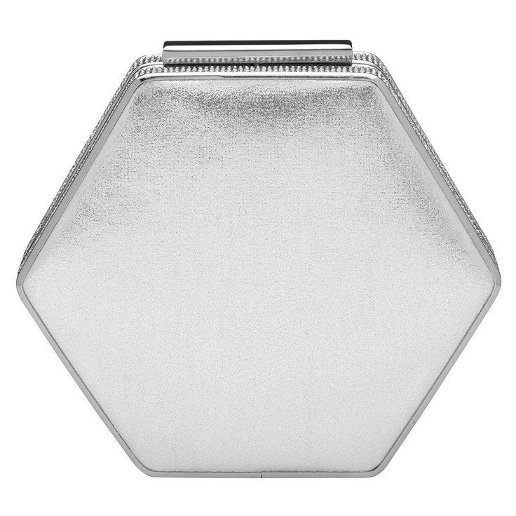 Regan' Crystal Octagonal Pod - OB6250- RRP $119 - Silver - Olga Berg Handbags and Bags Online