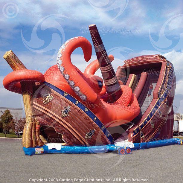 Inflatable Kraken Slide: 9 Best INFLATABLE SLIDES