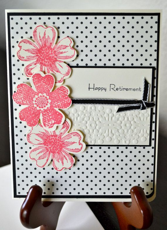Happy Retirement CardPink by TheRoundedCorner on Etsy, $5.00