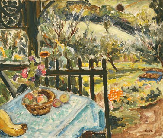 Csók, István (1865-1961) On the Terrace