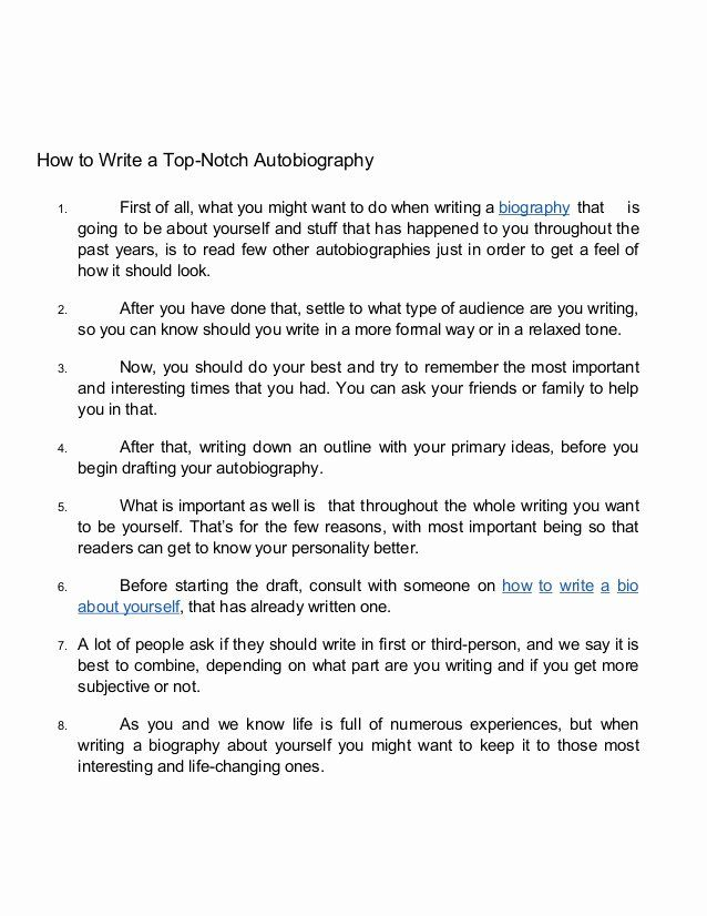 Example Of Autobiography About Yourself Unique 15 Tips On How To Write Autobiography About Yourself Essay Outline English Phonics Writing A Biography