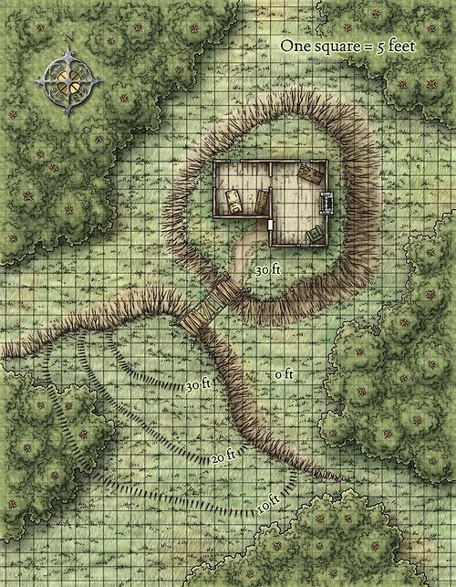 Cabin D&D Map