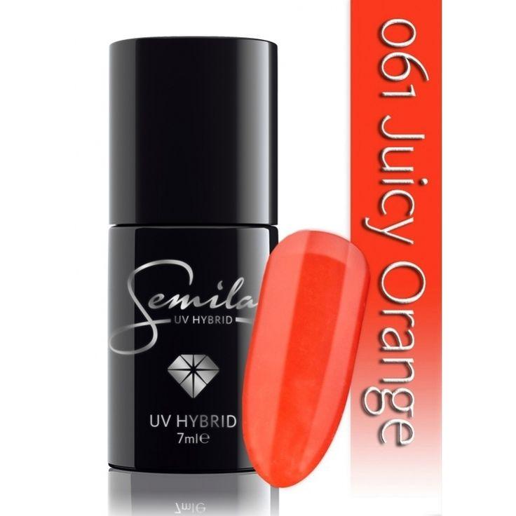 Ημιμόνιμο μανό Semilac - 061 Juicy Orange 7ml - Semilac   Προϊόντα Μανικιούρ - Πεντικιούρ Semilac & Ημιμόνιμα.