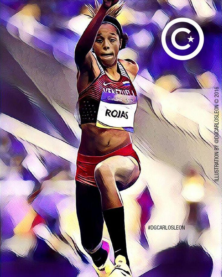 El que quiere superarse no obstáculos VE SUEÑOS  Impresionante ejemplo que nos da esta joven atleta venezolana Yulimar Rojas (@yulimarrojas45) primera medallista olimpica para Venezuela en las olimpiadas Brasil 2016 obteniendo la medalla de plata contento estoy de tener la oportunidad de ilustrar este momento para ti Yulimar gracias por este hermoso exito que Dios te bendiga  Les invito a seguirla @yulimarrojas45 @yulimarrojas45 @yulimarrojas45  Aquí hacemos gráficas tus ideas (Here we…