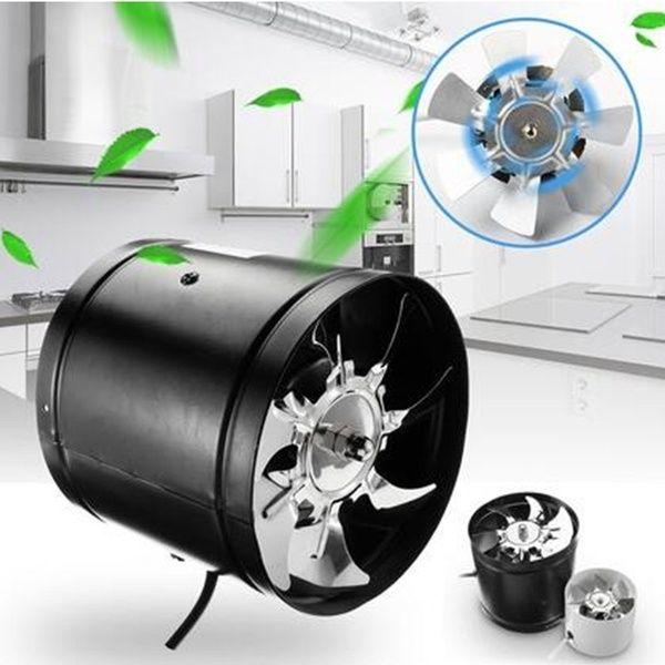 Hydroponic Grow Room Duct Fan in Line Ventilation Extractor for Tent with Plug /& Lead