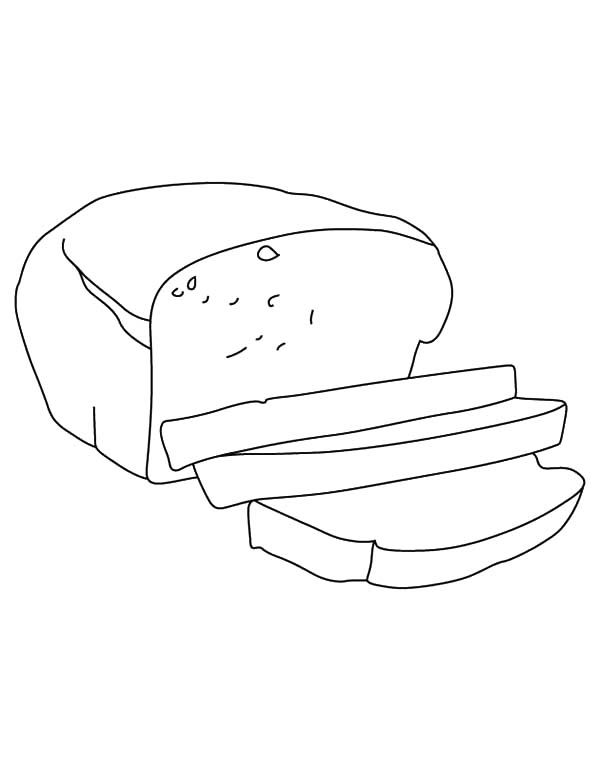 Bread Slice Outline Coloring Pages Best Place To Color Coloring Pages Outline Pictures Outline
