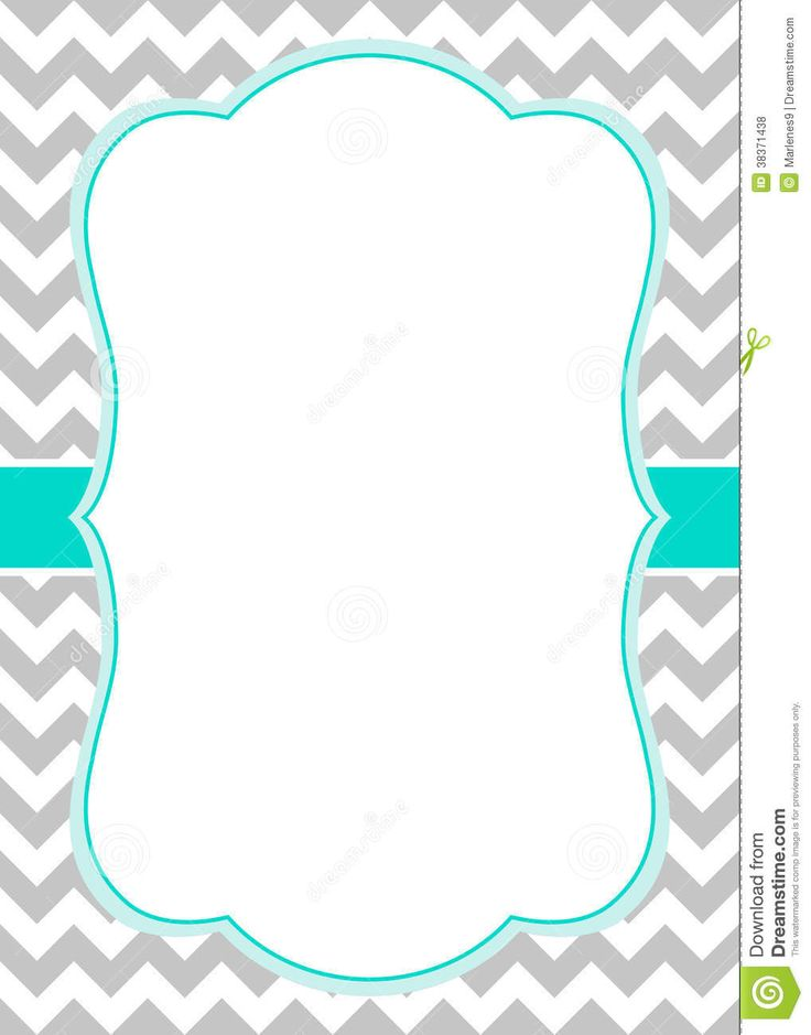 Blue chevron invitation template free primary for Headshot border template