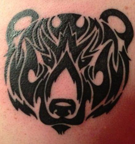 My Personal Tribal Bear Tattoo. Artist is located in Phoenix, Az