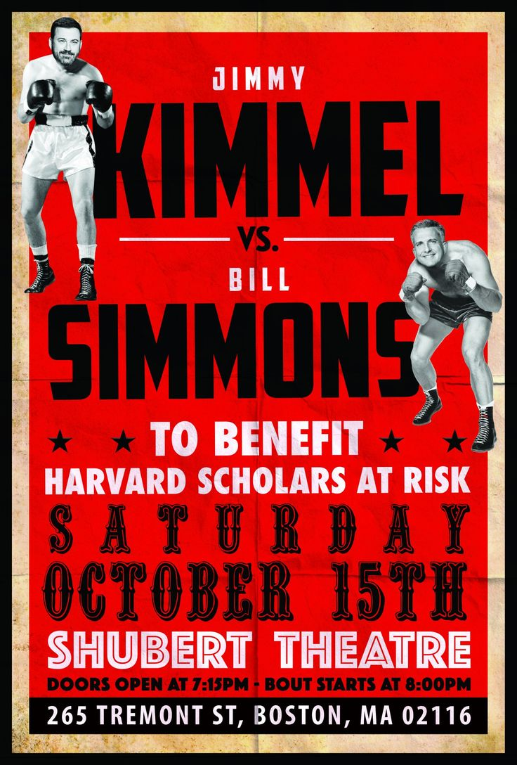"Late night host Jimmy Kimmel and Boston's own sports maven Bill Simmons will unite for ""An Evening of Conversation, Laughter and Romance.  The evening is a benefit for the Scholars at Risk Program at Harvard."