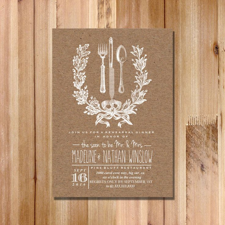 creative wording for rehearsal dinner invitations%0A Wedding Rehearsal Dinner Invitation  Rustic   Kraft Invitation DIY  Printable Wedding Invite by FateandFourtune on