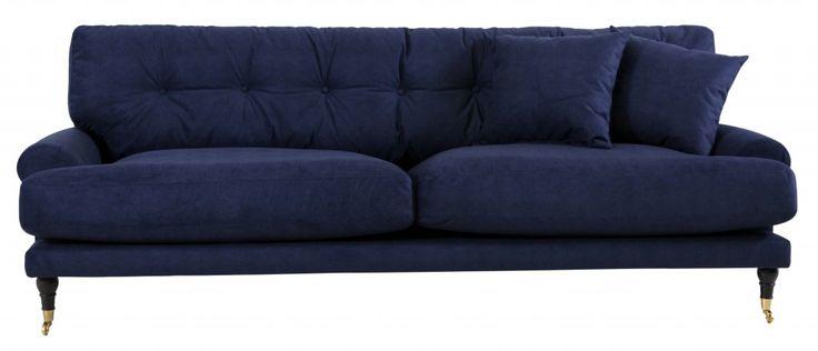 Andrew soffa i sammet | Modern howard inspirerad soffa
