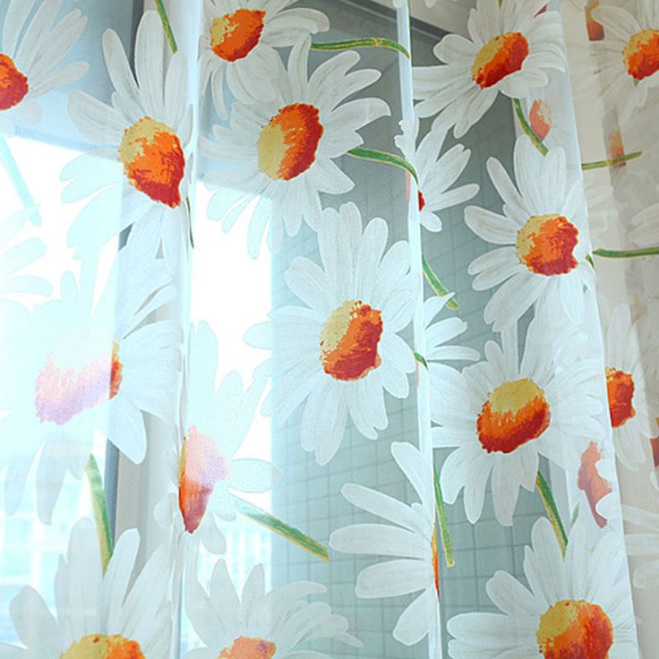 Daisy tulle curtain