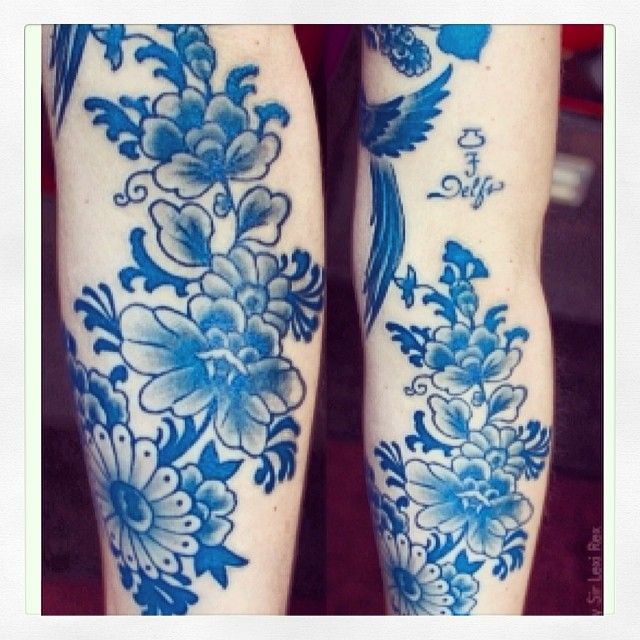 Color ! Blue Ink tattoo