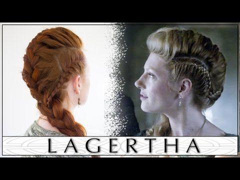 Vikings Hair Tutorial - Lagertha's Big French Braid Faux Hawk - YouTube