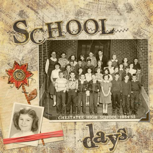 School Days...heritage digi page.