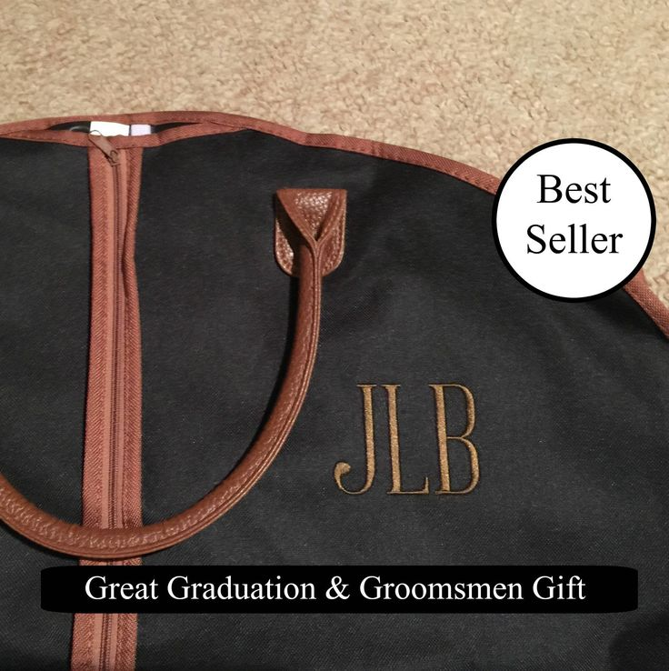 Personalized Men's Garment Bag - Monogrammed Hanging Bag - Personalized Garment Bag - Groomsmen Gift - Suit Bag by MJMonograms on Etsy