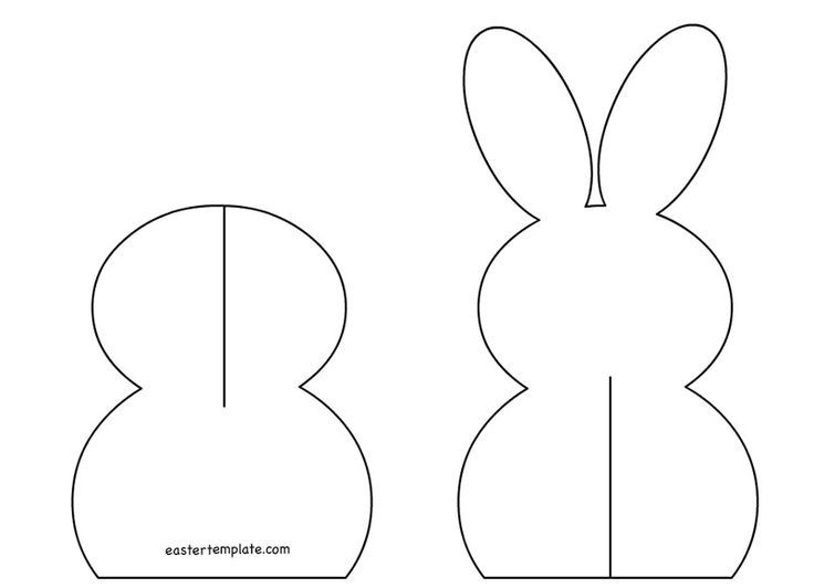 Related images:Rabbit ear template for kidsCute Easter Bunny templateBunny color
