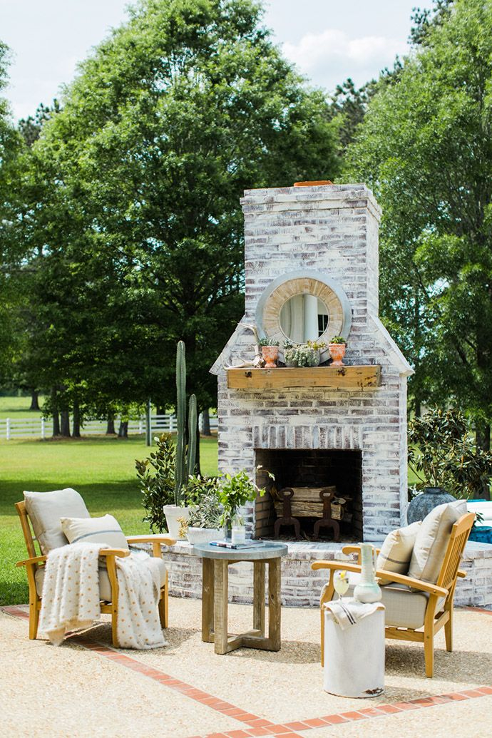 Superb Outdoor Brick Fireplace Ideas Part - 2: A Regal U0026 Rustic Home In The Heart Of Mississippi