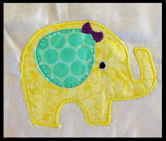 Elephant Applique Embroidery Design Digital Download,Elephant Applique embroidery design, Elephant design, Elephant Applique, baby applique, cute elephant design, purple and yellow and teal green, polka dot elephant, nursery theme elephant