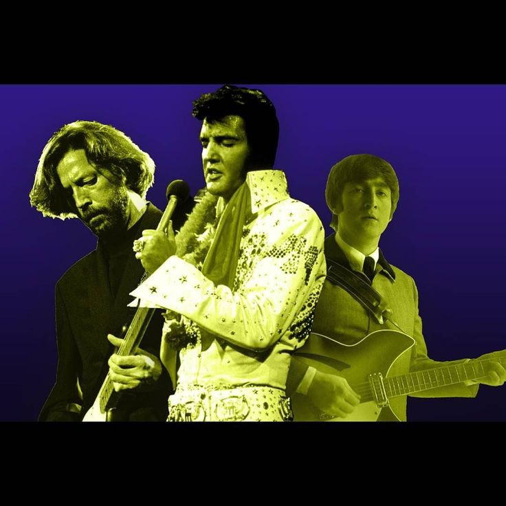 The king and his subjects! . . #estb #elvis #presley #elvispresley #tcb #tcl #jumpsuits #graceland #king #theking #sideburns #pompadour #quiff #ericclapton #JohnLennon #thebeatles #beatles #cream #subjects