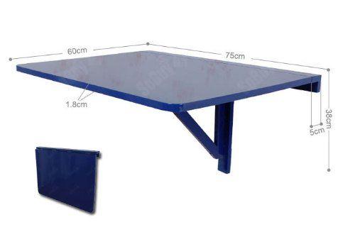 Tavolo da muro pieghevole in legno 75*60cm, colore: blu, So-FWT01-B: Amazon.it: Casa e cucina