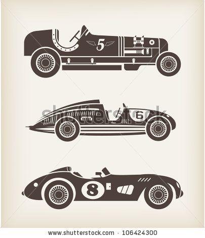 Vector vintage sport racing car by Vector pro, via Shutterstock
