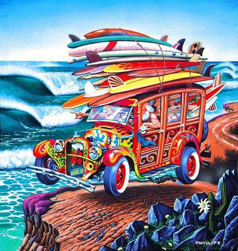 Directeur artistique de Santa Cruz Skateboards à partir de 1975, Jim Phillips est le créateur du logo de la marque et de la fameuse screaming hand bleue, icône graphique des subcultures californiennes et des pratiquants de sports de glisse, qui questionnait déjà à sa manière les utopies lysergiques du Flower Power des années 60